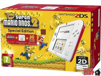Nintendo 2DS Röd/Vit (inkl. New Super Mario Bros. 2)