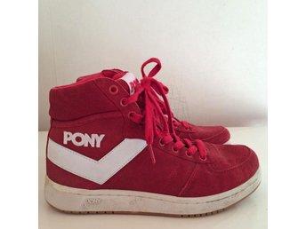 Pony fri frakt röda sneakers basketkängor skinn skinnskor kängor 40,5 - Kullavik - Pony fri frakt röda sneakers basketkängor skinn skinnskor kängor 40,5 - Kullavik