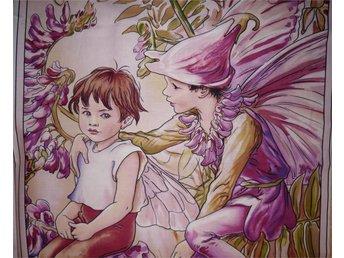 Blomsterälva: tyg till lapptäcke, bonad, kuddar... - Hässelby - Blomsterälva: tyg till lapptäcke, bonad, kuddar... - Hässelby