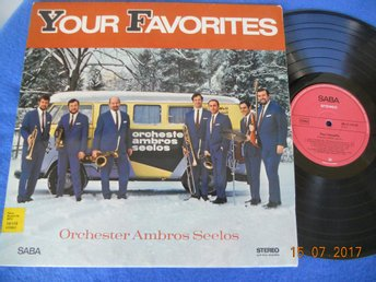 AMBROS SEELOS - Your favorites, LP SABA Tyskland 60-tal