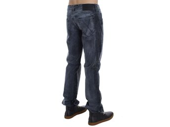 EXTE - Gray Wash Cotton Regular Fit Jeans
