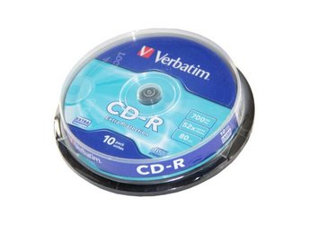 CD-R Verbatim 52x 10p 80min./700MB, Spindel, Extra Protection