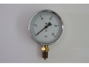Manometer 0 - 25 bar Diameter 100 mm