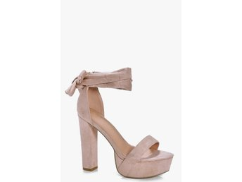 Truffle Two Part Platform Heels Mockaimitation Nude