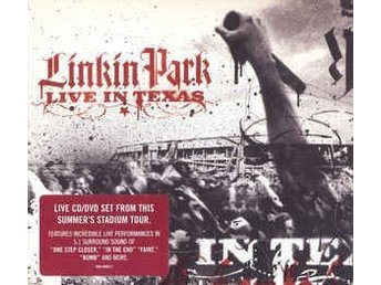 "CD/DVD LInkin Park  ""Live in Texas """