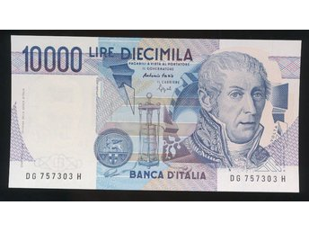 Italy 10000 Lira UNC se bild - Västra Frölunda - Italy 10000 Lira UNC se bild - Västra Frölunda