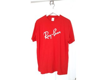 RAY BAN solglasögon brand röd t-shirt cool hip hop fashion