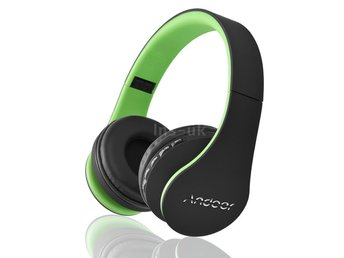 Foldable Wireless Trådlös Bluetooth Over Ear Headphones + MIC FM TF MP3  grön