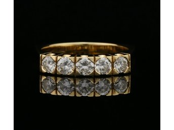 0.75 ct - Diamant Ring 18K Guld - A1228
