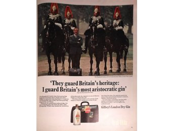 GILBEY'S LONDON DRY GIN TIDNINGSANNONS Retro 1968