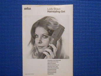 Instruktion Lady Braun Hairstyling Set 1974