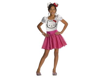 Hello KItty dress med Kitty diadem! Storlek 3-4 år