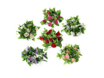 2.5m Artificial Silk Rose Flower Garland Party Home Decor
