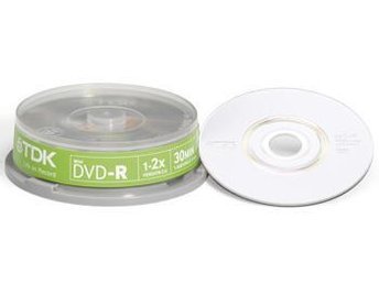 TDK DVD-R 8cm 1.4GB 10-p cakebox