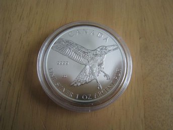 1 oz Silvermynt Red Tailed Hawk 2015 (Canadian Birds of Prey) - Piteå - 1 oz Silvermynt Red Tailed Hawk 2015 (Canadian Birds of Prey) - Piteå