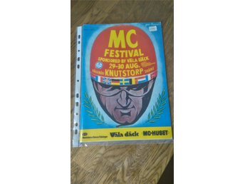 MC Festival 29-30 aug. 1981 Ring Knutstorp.