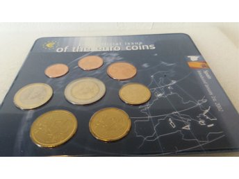 First official issue of the euro coins Spain 2001