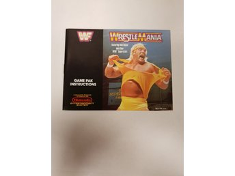 Wrestle Mania - Manual NES NINTENDO - USA