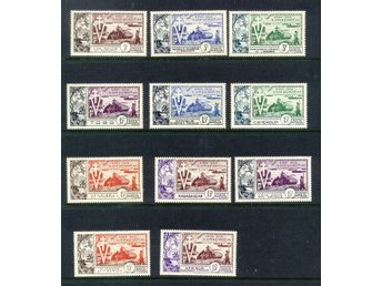 French Colonies. 1954. Liberation WWII, 10th Anniv. 11v **