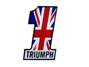 Triumph Nr 1 Big  Patch Brodyrmärke.