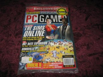PC GAMER SEPTEMBER 2001 (THE SIMS ONLINE) DEMO-ALONE IN THE DARK IV-NY INPLASTAD