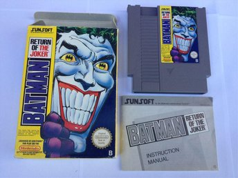 BATMAN RETURN OF THE JOKER - SCN/Svensksålt - Nintendo NES