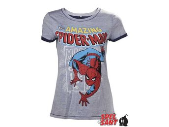 Marvel Amazing Spider-Man Tjej T-Shirt Grå (Small)