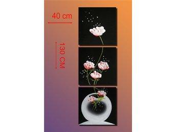 Abstrakt, oljemålning 130x40 cm - Tollarp - Abstrakt, oljemålning 130x40 cm - Tollarp