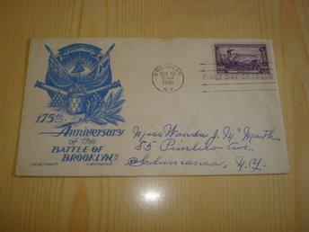 Battle of Brooklyn 1951 USA förstadagsbrev - Jämjö, Blekinge - Battle of Brooklyn 1951 USA förstadagsbrev - Jämjö, Blekinge