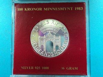 100 KRONOR 1983 OCIRKULERAT TOPPEX. - Grythyttan - 100 KRONOR 1983 OCIRKULERAT TOPPEX. - Grythyttan