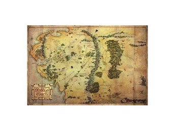 Hobbit Affisch Journey Map A720