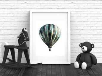 A4 Poster Print Luftballong, Fin barninredning, barntavla. - Asmundtorp - A4 Poster Print Luftballong, Fin barninredning, barntavla. - Asmundtorp