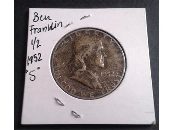 "USA Franklin Half dollar 1952 ""S"" - 90 % silver"