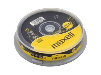 Maxell CD-R 52x 80min 10-pack cakebox