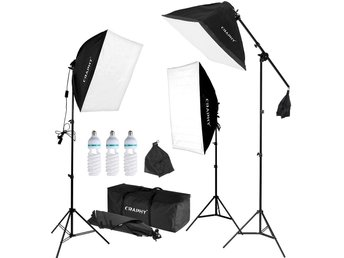Fotostudio kit studioset lampa blixt paket softbox E27 ljus