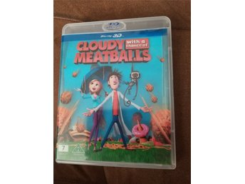 Cloudy with a chance of meatballs (Det regnar köttbullar) Blu-Ray 3D