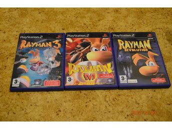 PLAYSTATION 2 PS2  RAYMAN 3 RAYMAN M RAYMAN REVOLUTION  2 OLIKA SPEL