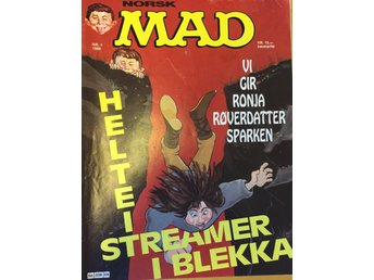 MAD Norsk  Nr 4 1986- Fint skick!