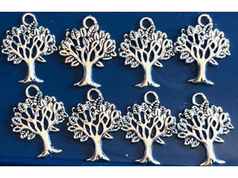 8st Charms - Livets träd eller Tree of life