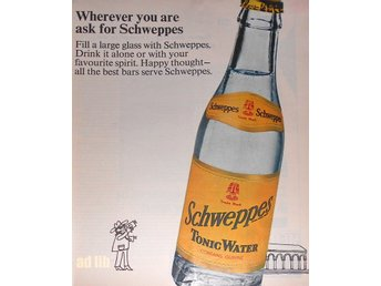 SCHWEPPES - WHEREVER YOU ARE TIDNINGSANNONS Retro 1968