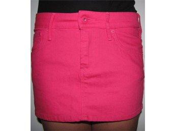 Snygg kort modern neon rosa kjol fickor H&M 158 XXS XS somrig fest party sommar - Väddö - Snygg kort modern neon rosa kjol fickor H&M 158 XXS XS somrig fest party sommar - Väddö