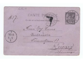 Postkort Paris 1888. Carte postale.  Businesscard