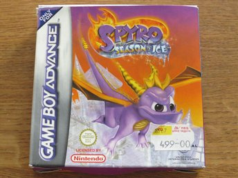 "Game Boy Advance ""Spyro season of ice"" med originalkartong, instruktionsbok mm."
