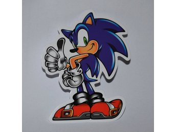 Sonic the Hedgehog fr. SEGA Klistermärke Sticker Logo/Märke 7,5*6cm Ny
