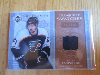 P Forsberg - UD Artifacts Treasured Swatches jersey, 250:exare, 2006/2007