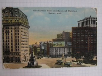 USA, Detroit - Pontchartrain Hotel and Hammond Building