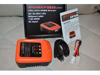 Batteriladdare Airsoft IP3025 (LiPo/LiFe/NiMH) iPower 25W/3A Orange Ny