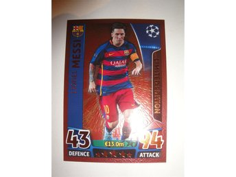 Topps Match Attax CL 2015/16 - Limited Edition BRONS - LIONEL MESSI - Barcelona