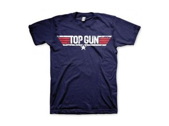 Top Gun T-shirt Distressed Logo XXL