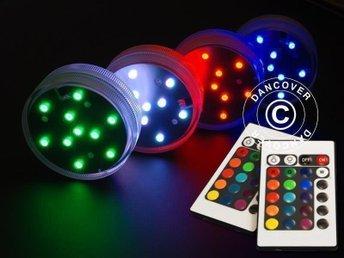 LED-ljus bas (4 st.), diameter 7cm, flerfärgad - Hellebæk - LED-ljus bas (4 st.), diameter 7cm, flerfärgad - Hellebæk